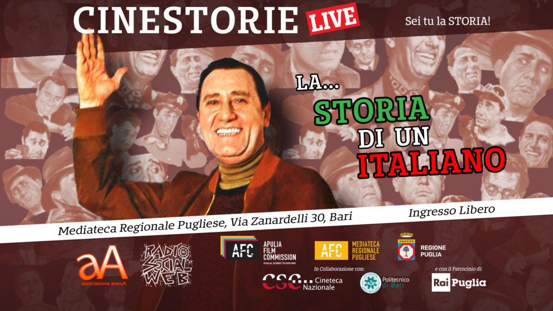 """Cinestorie live Ep 14 – Alberto Sordi e la """"contestazione generale"""". Con Andrea Ciaffaroni"""