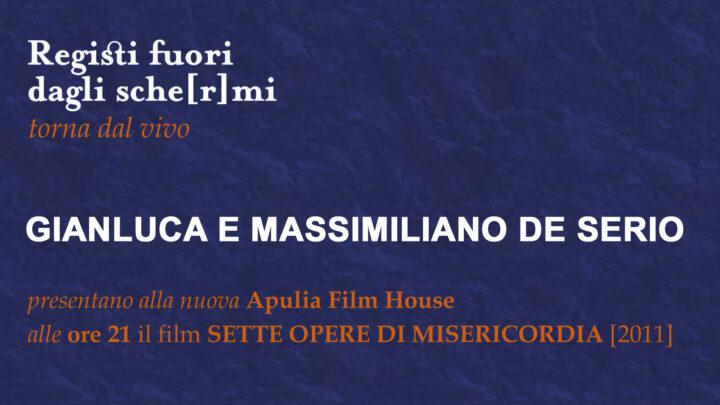 """I Registi De Serio all'Apulia Film House di Bari per la Rassegna """"Registi Fuori Dagli Sche[r]mi""""."""